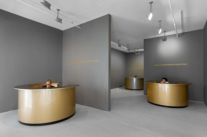 installation view, 'The Probable Trust Registry', Adrian Piper, 2014 / Elizabeth Dee Gallery, Spring 2014 (image Etienne Frossard, © Adrian Piper Research Archive Foundation Berlin)